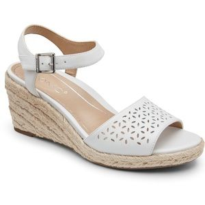 Vionic | Women's Ariel White Wedge Support Sandal